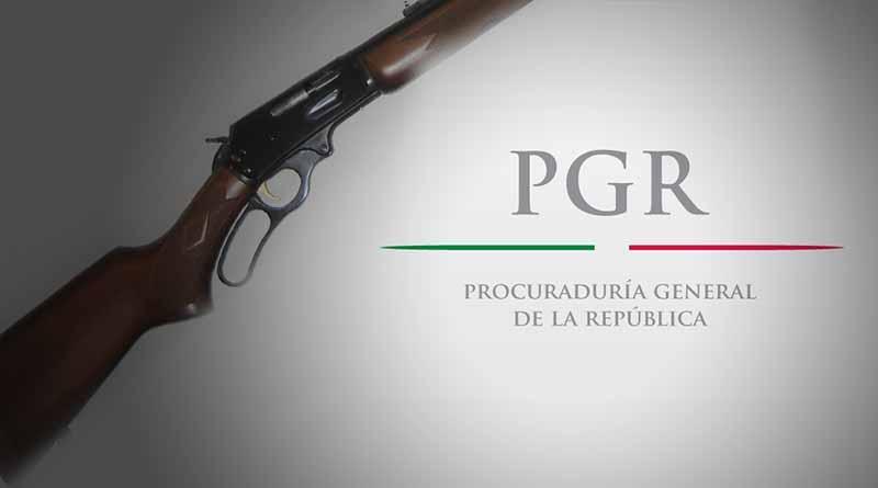 Ante la PGR tres sujetos detenidos en Vista Hermosa por realizar ebrios disparos con rifle 30-30