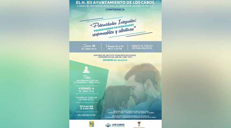 Ayuntamiento de Los Cabos impartirá conferencia y taller orientados a la paternidad integral