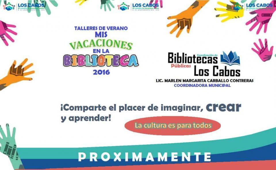 Bibliotecas Públicas de Los Cabos activas en Vacaciones de Verano