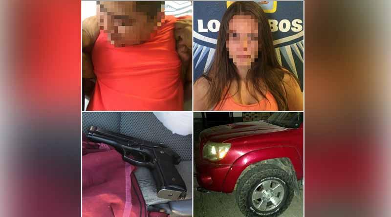 Detiene Policía Preventiva de Los Cabos a una pareja con un arma de fuego en Playa Palmilla