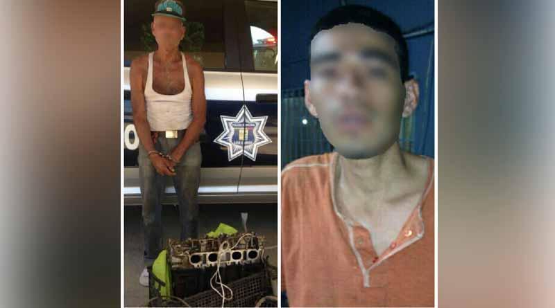 Detiene Seguridad Pública de Los Cabos a dos sujetos por el delito de robo de vehículo