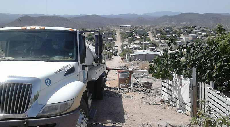 Reorganiza SAPA La Pazel reparto de agua a través de pipas