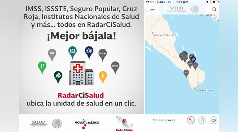 Promueve SSA una aplicación móvil para localizar vía satelital las unidades médicas existentes en BCS