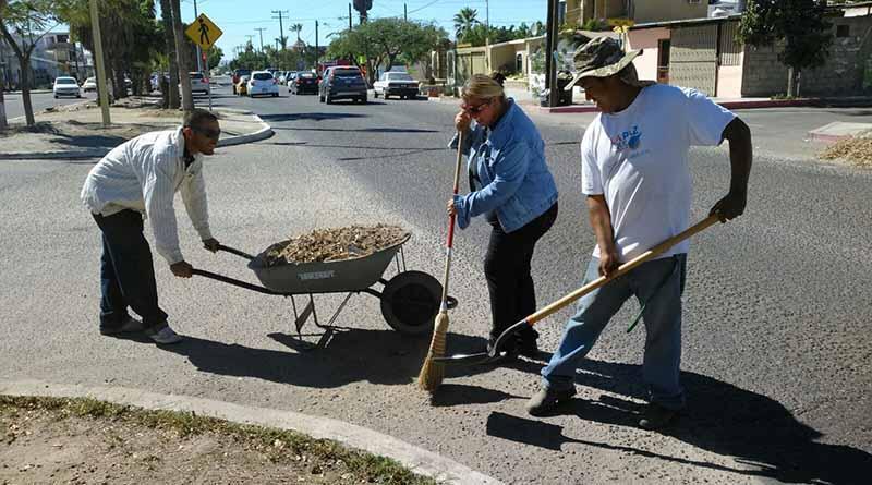 Trabaja Servicios Públicos en limpieza de boulevares