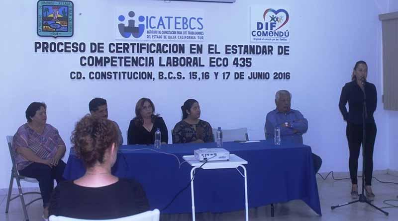 Personal de CADI Comondu, recibe capacitación y actualización encaminada a la certificación