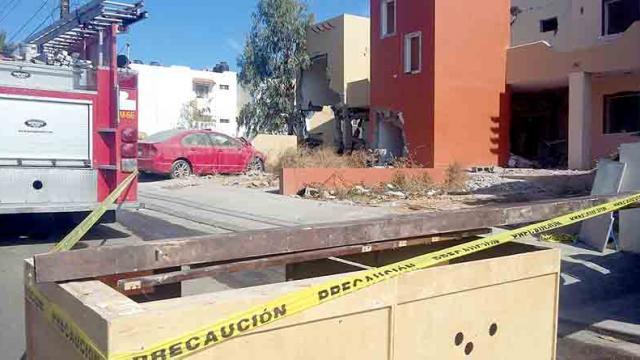 PGJE habían concluido con peritaje en edificio de la explosión en El Chamizal, se procedió a su derribo: PC