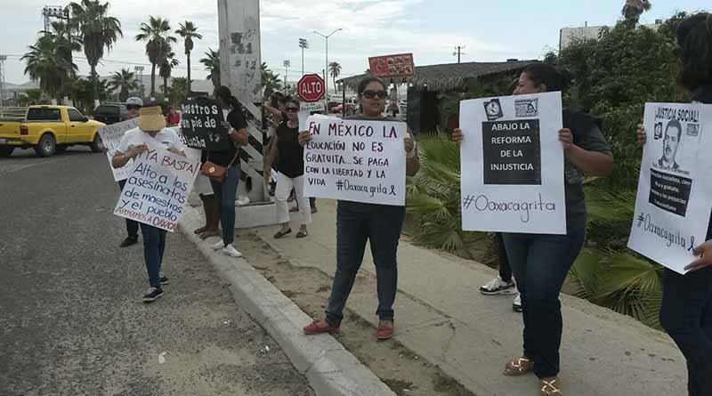 Piden desde SJC justicia social para Oaxaca