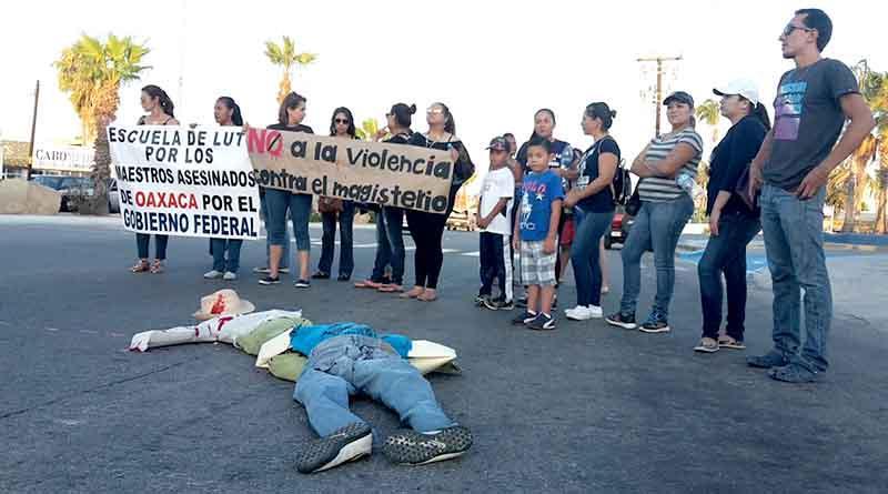 Alzan la voz desde La Paz y Los Cabos contra represión y violencia en Oaxaca