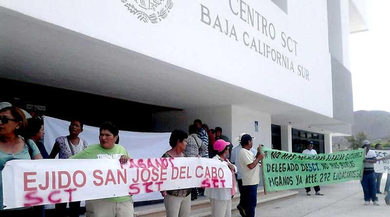 Acuerda SCT pago a ejidatarios de Los Cabos para la próxima semana