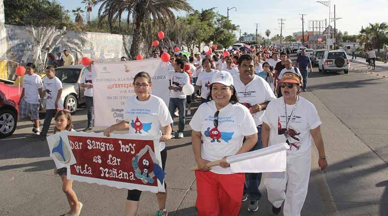 Organiza Segunda Regidora marcha por el Día del Donador Altruista