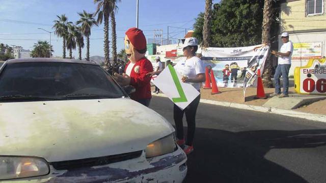 Realiza PGJE  diagnóstico de observación de hechos de tránsito en Los Cabos