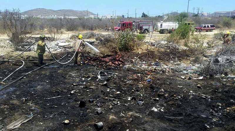 Moviliza a bomberos incendio en las inmediaciones al aeropuerto de SJC