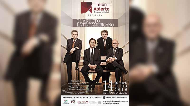 """Dará concierto """"Cuarteto Latinoamericano"""" en La Paz"""