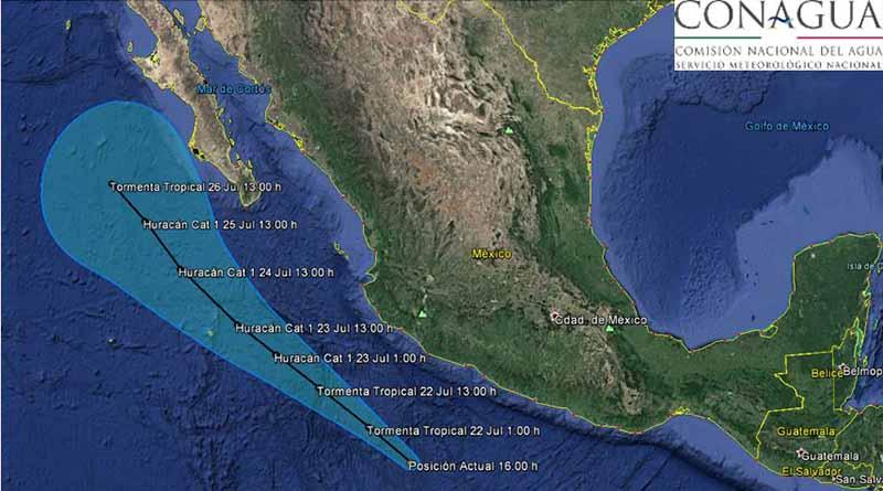 Se forma tormenta tropical FRANK en el Oceano Pacífico
