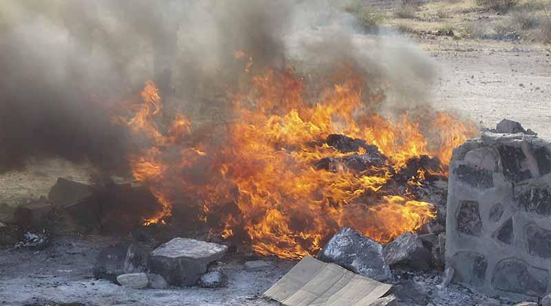 Incinera PGR más de 19 kilos de narcóticos, además destruye material apócrifo, máquinas tragamonedas y vehículos