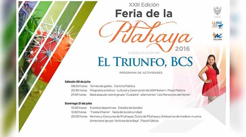 Invitan a la XXIII Edición de la Feria de la Pitahaya en El Triunfo