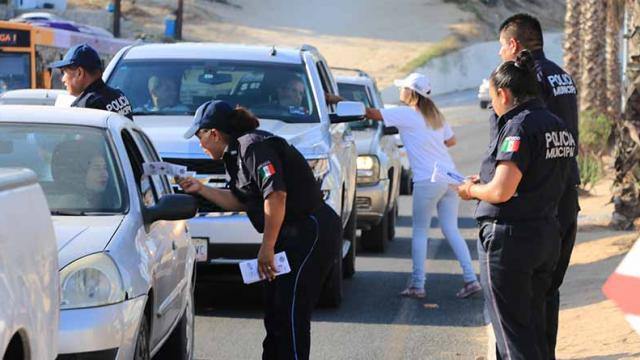 Realiza Gobierno de Los Cabos y PGJE programa de prevención de accidentes