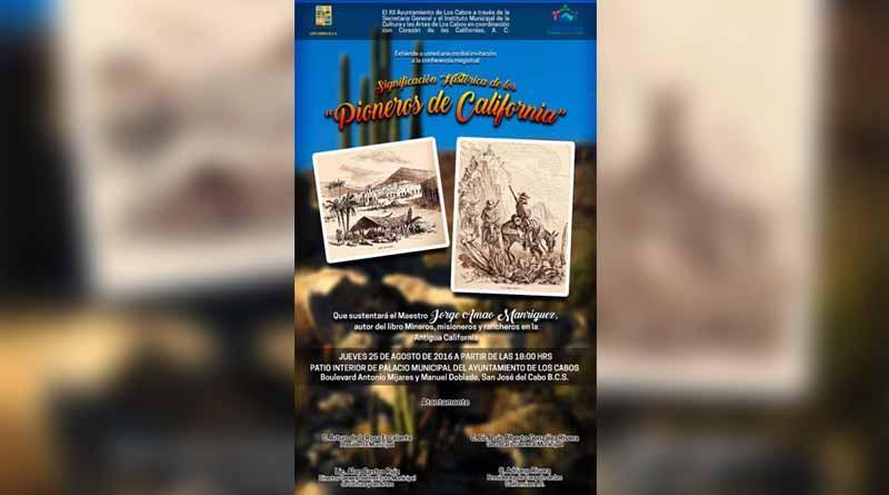 """Conferencia Magistral significación histórica de los """"Pioneros de California"""""""