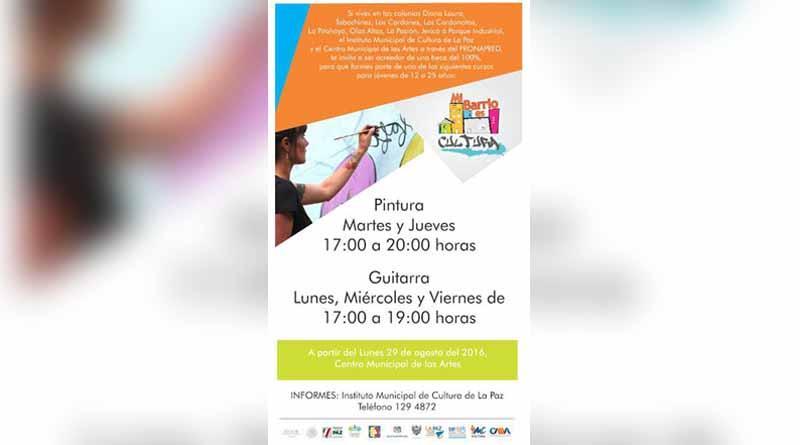 Inician en La Paz los cursos culturales del programa Mi Barrio es Cultura