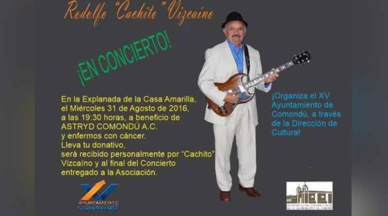 """Rodolfo """"El Cacho"""" Vizcaíno En Concierto, a Beneficio de Enfermos de Cáncer"""