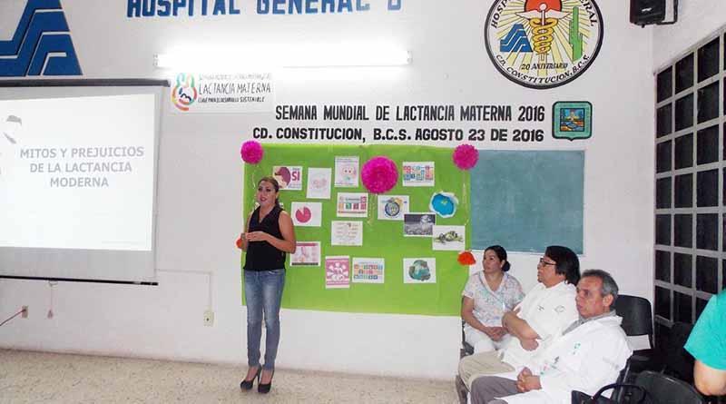 DIF, IMM y Hospital General Promueven Pláticas a Mujeres en Período de Lactancia y Embarazadas