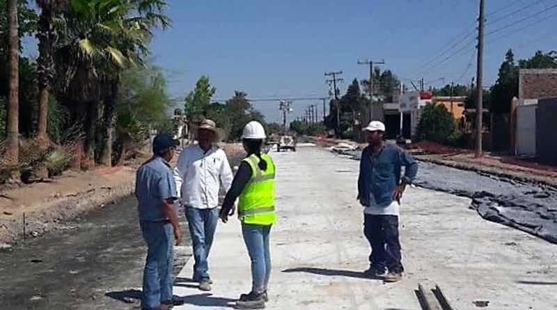 Oomsapas Comondú realiza supervisión de sus instalaciones en obra de pavimentación