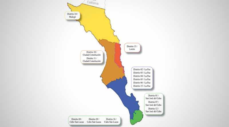 Concluye INE distribución de distritos en BCS; Los Cabos se queda con 6 distritos igual que La Paz