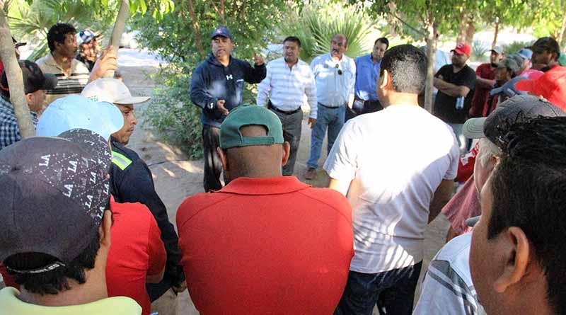 El alcalde, Francisco Pelayo Covarrubias sostuvo reunión con los trabajadores de Servicios Públicos municipales