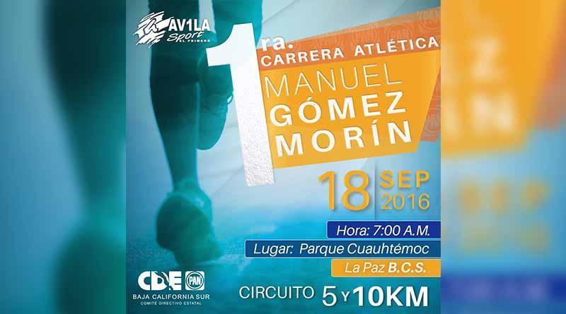 Invita PAN a la carrera atlética  Manuel Gómez Morín