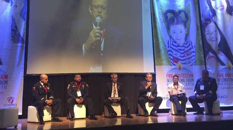 Comandante de Bomberos de CSL representa a México en panel internacional del FPI