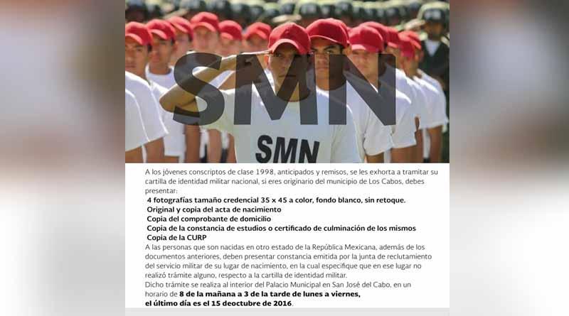 El 15 de octubre fecha límite para tramitar cartilla militar clase 1998