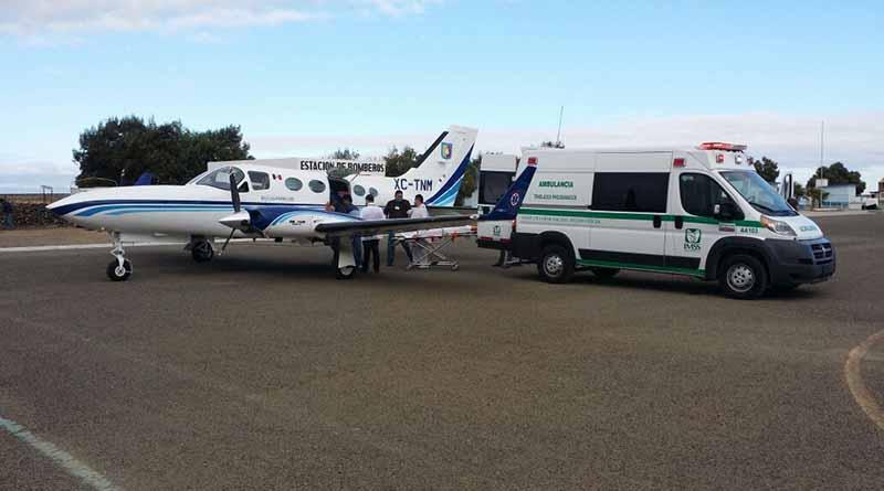 Aeronave del gobierno de BCS hoy permite trasladar pacientes en estado crítico a la capital del estado