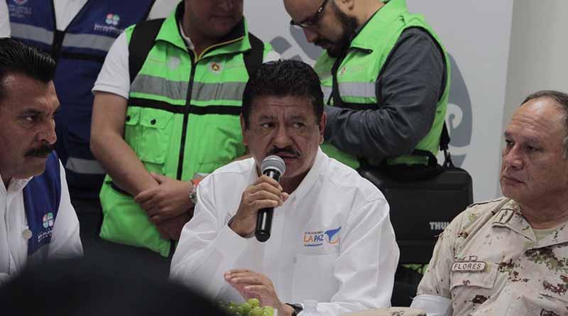 """Alcalde de La Paz, dio a conocer que este 7 de septiembre sesionará  el Consejo Municipal de Protección Civil para evaluar los daños por el paso el huracán """"Newton"""""""
