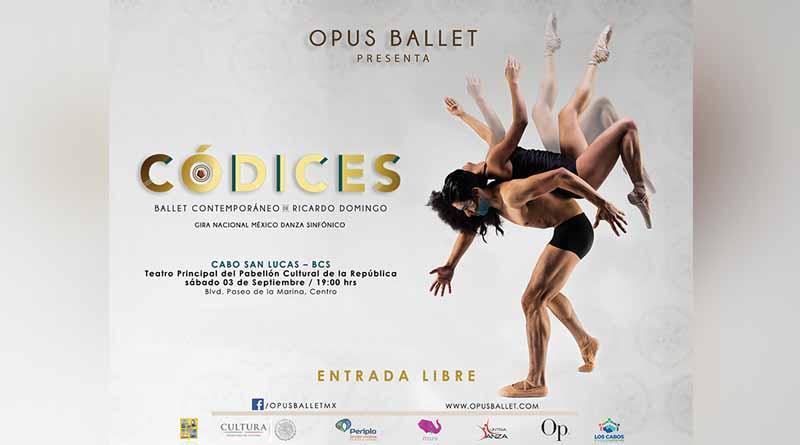 """Invita el Gobierno Municipal y la compañía Opus Ballet al espectáculo denominado """"Códices""""."""