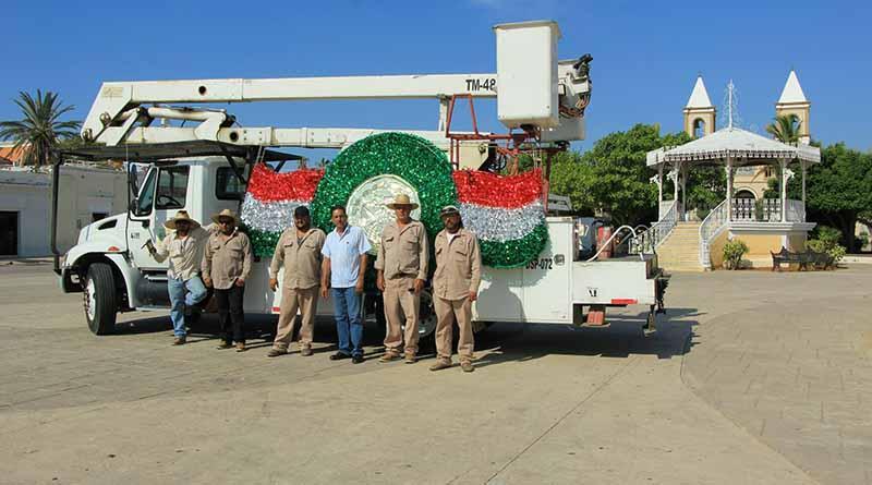 Los Cabos luce tricolor con el inicio del mes patrio: Servicios Públicos