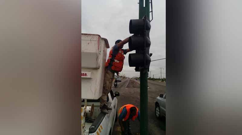 Reporta la dirección general de seguridad pública, policía preventiva y tránsito municipal un avance del 66% en reparación de semáforos