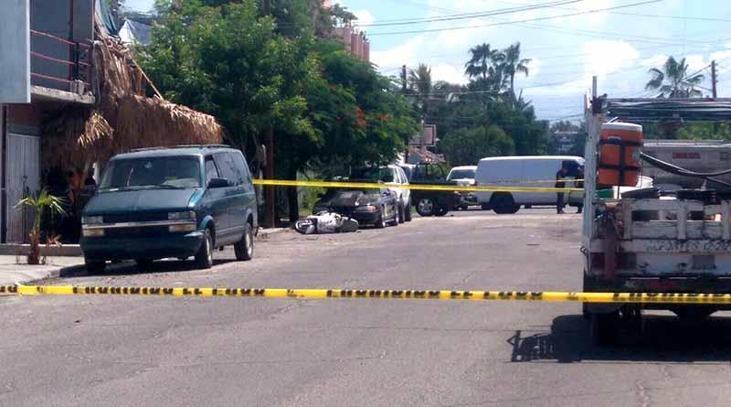 Disparan y matan a un hombre en La Paz, PGJE asegura 15 casquillos