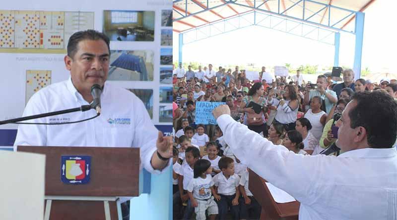 Entregan Gobernador y Alcalde nuevo jardín de niños en La Ballena