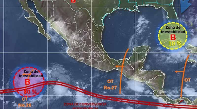 Avanza en el Pacífico zona de inestabilidad con potencial ciclónico