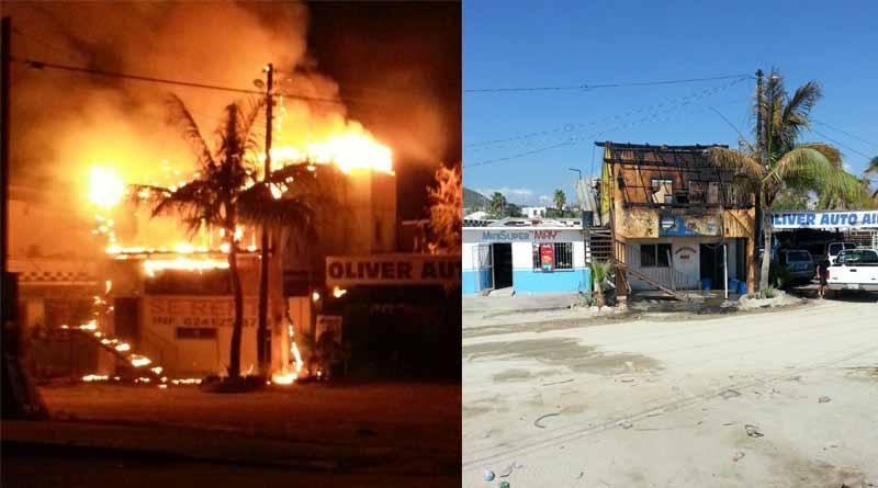Arde bar en la colonia El Rosarito de SJC