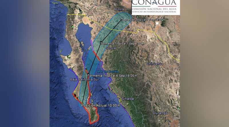 Último reporte de ubicación y situación por el Huracán Newton
