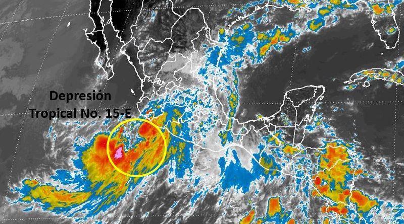 Se forma la depresión tropical número 15-E en costas del Pacífico