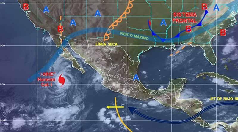 Huracán Paine se ubica a 520 kilómetros al sur-suroeste de Cabo San Lázaro, BCS
