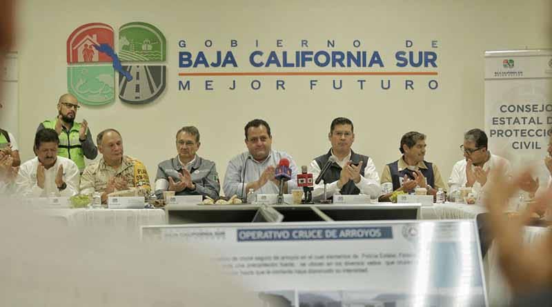"""Sigue monitoreo del Huracán """"NEWTON"""" por los municipios de Comondú, Loreto y Mulegé: CMD"""