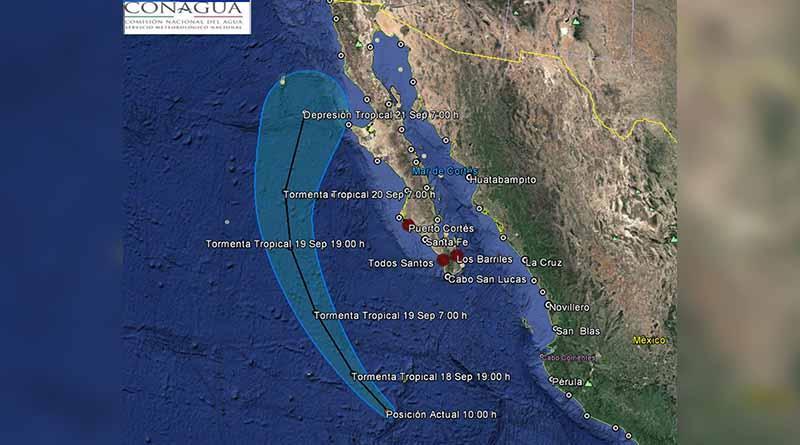 Tormenta Paine favorecerá lluvias muy fuertes en Baja California Sur