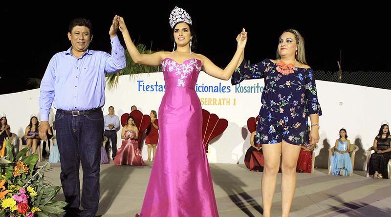 Fiestas tradicionales El Rosarito con la coronación de Monserrath I