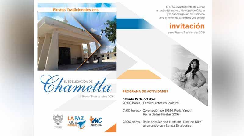Invitan a las fiestas tradicionales de Chametla 2016
