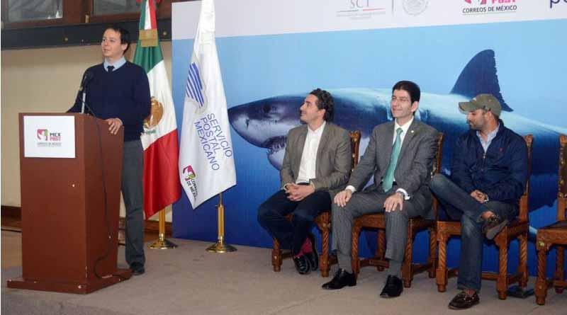 Cancelan estampilla postal alusiva a tiburones pelágicos
