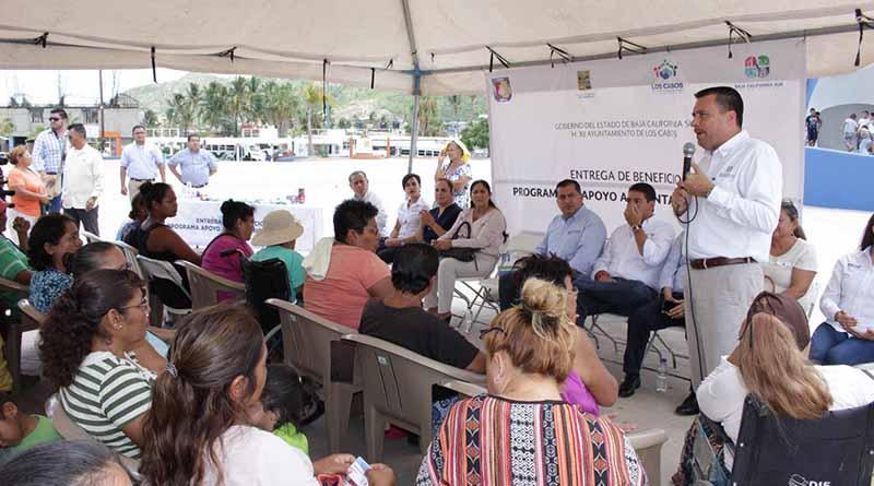Entrega SEDESO mil pensiones alimentarias en el Municipio de Los Cabos