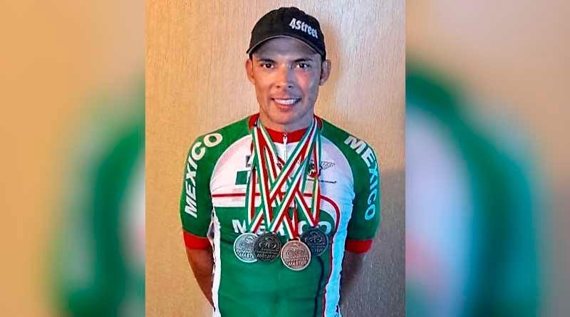 El ciclista sudcaliforniano Christiam Valenzuela suma 5 medallas en Panamericano Master